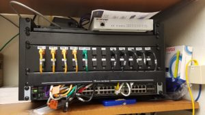patch panel and switch